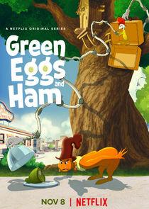 Grünes Ei mit Speck